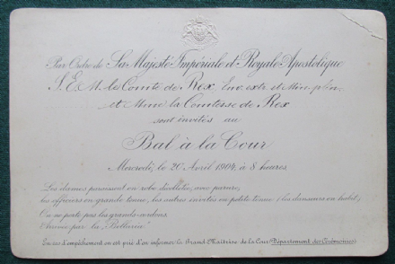 Emperor Franz Joseph I Habsburg - Royal Austrian Invitation to a Court Ball GV